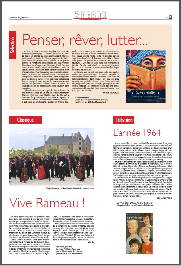 Article du quotidien Le Républicain Lorrain du 27 juillet 2014 (picto)