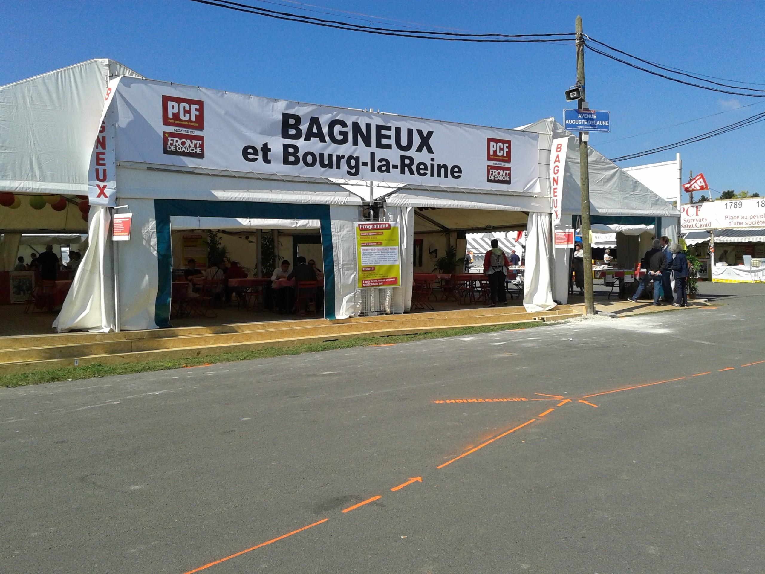 Fête de l'Huma 2014 - Le stand de Bagneux Bourg-la-Reine