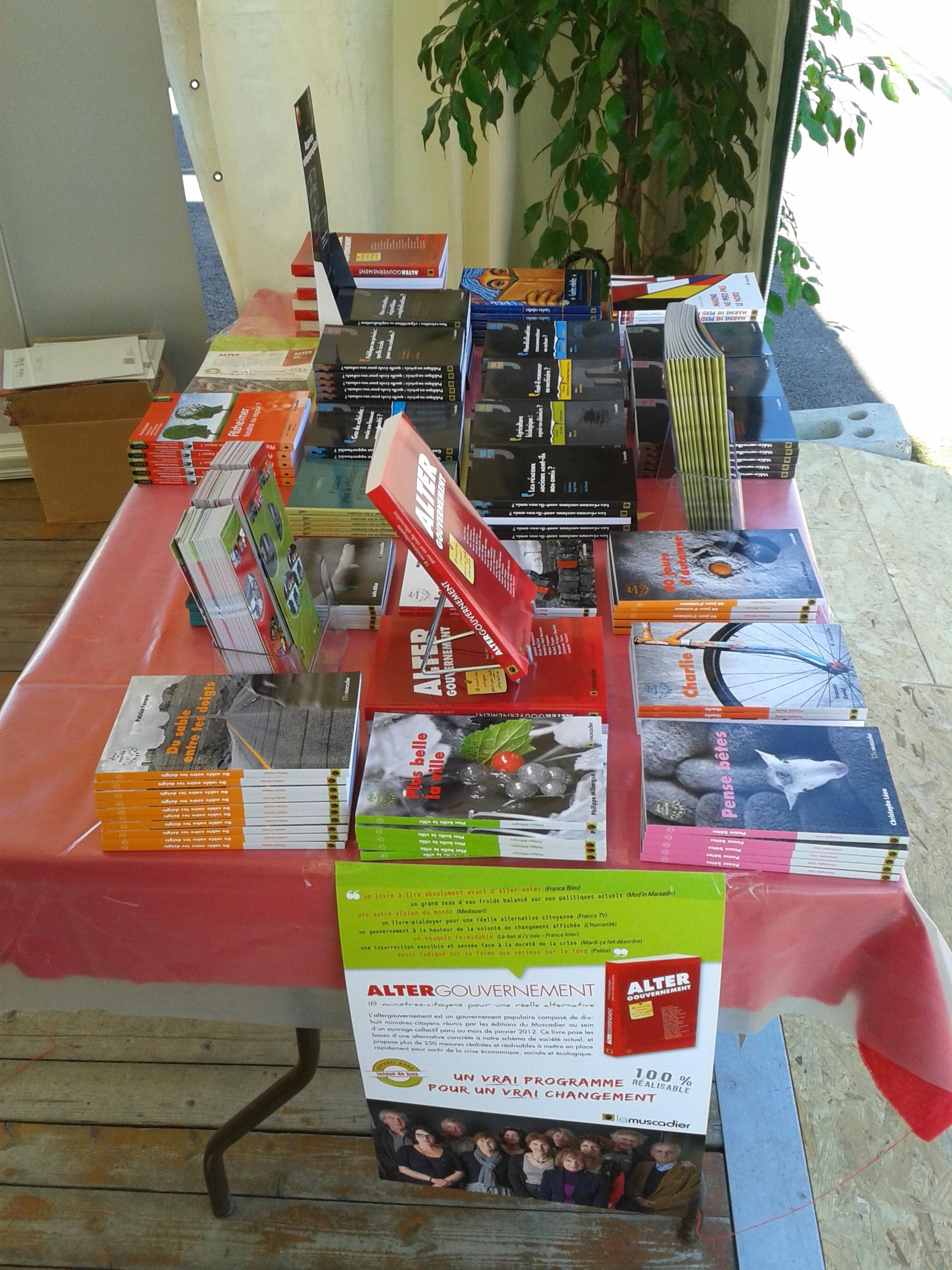Fête de l'Huma 2014 - La table du Muscadier sur le stand de Bagneux Bourg-la-Reine