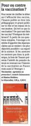 Recension du livre Vaccination dans la revue Le pharmacien de France - sept-oct 2015