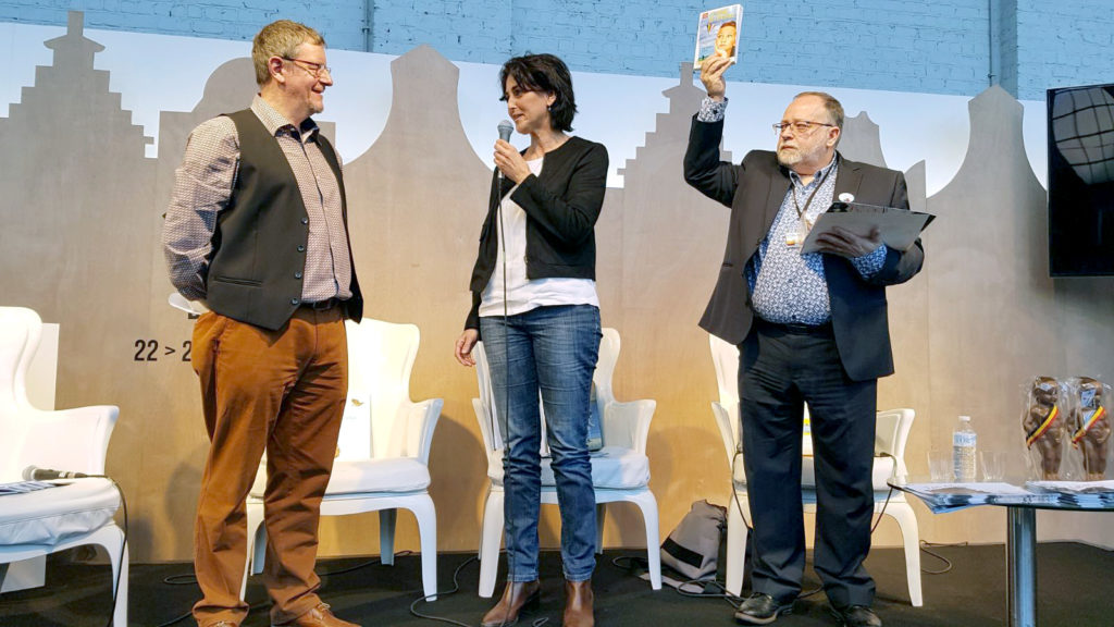 Anne-Françoise de Bruyne recevant le prix Libbylit 2017