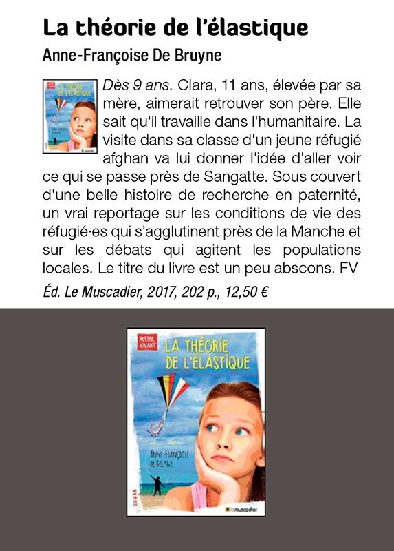 Recension La théorie de l'élastique dans la revue S!lence n°466 d'avril 2018