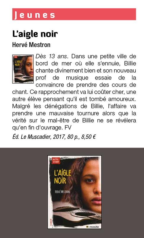 Recension L'Aigle noir dans la revue S!lence n°467 de mai 2018