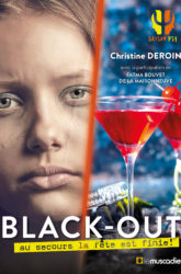 "Couverture du livre ""Black-out"" de Christine Deroin - ISBN 9791096935437"